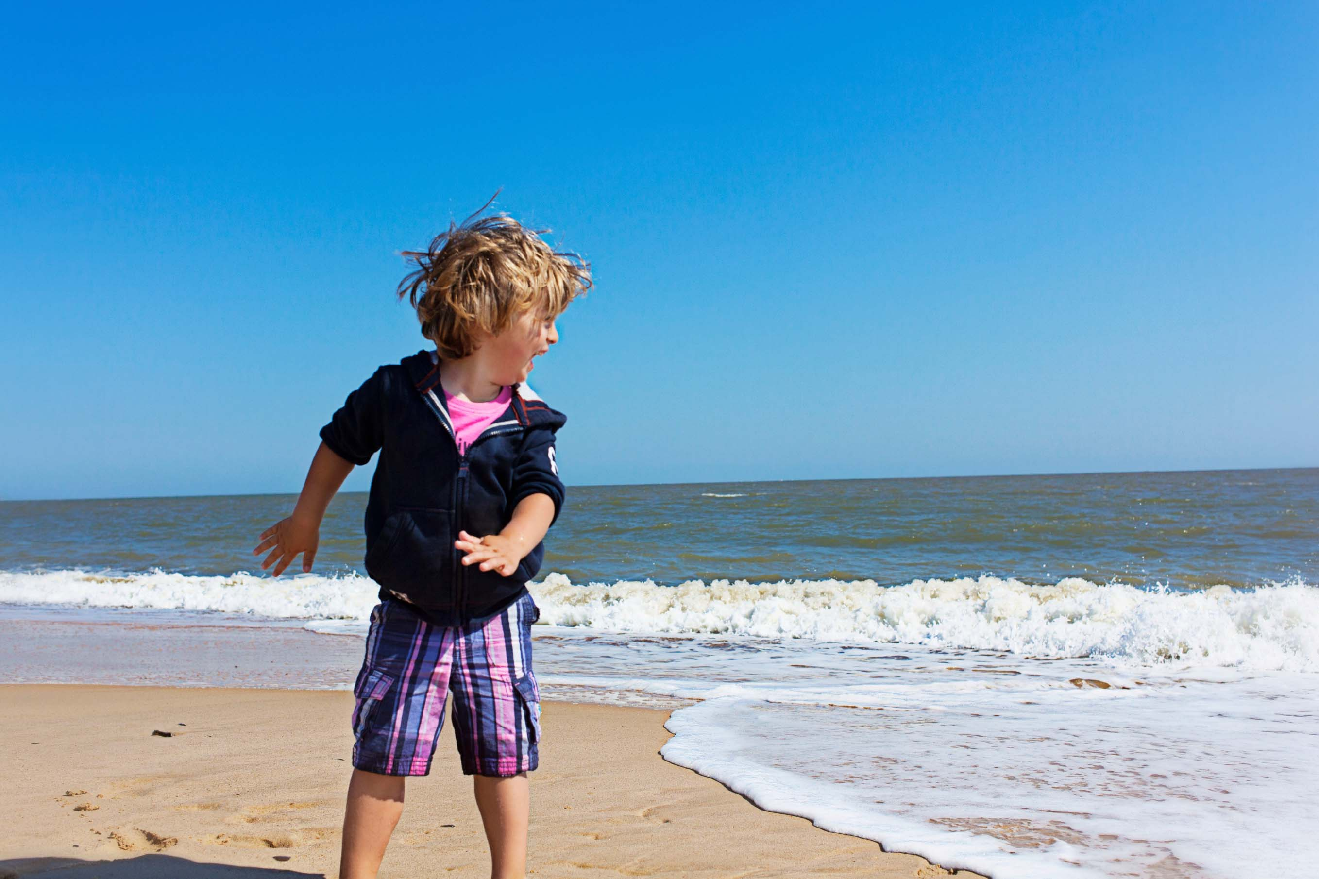 Boy on Norfolk Beach