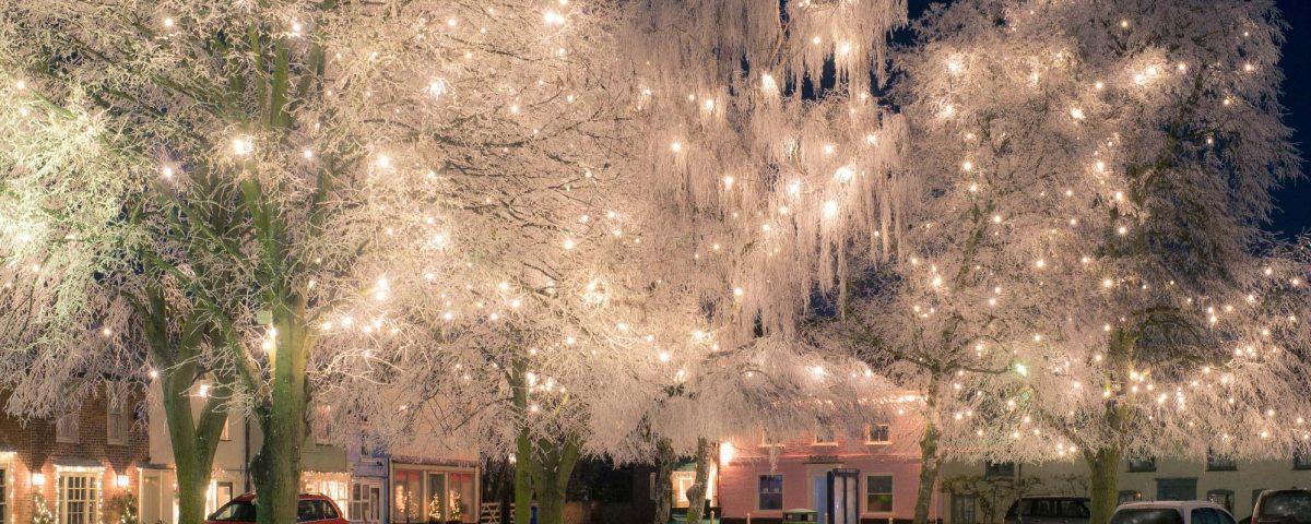 Birnham Market Christmas lights