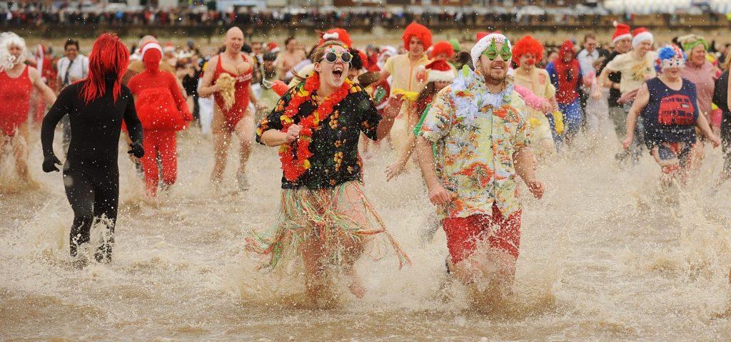 Hunstanton Christmas Day Charity Swim