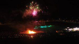 Hunstanton Fireworks Cliff Display