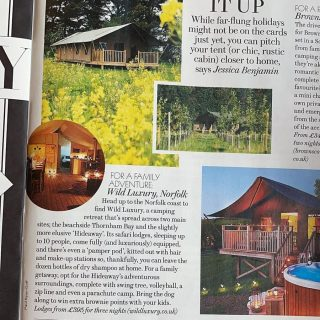 Lovely feature in @london_evening for the Hideaway #norfolkcoast #norfolkglamping #norfolkhotels #glampinglife #escapetothecountry #lovenorfolk