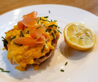 Yum Smoked Salmon with free range scrambled eggs on a muffin with chives leaving the Magazine Wood kitchen this morning #norfolkfoodie #norfolkfood #norfolkcoast #breakfasttime  #norfolkhotels #breakfastideas  #startthedayright #norfolkfoodbloggers #escapetothecountry